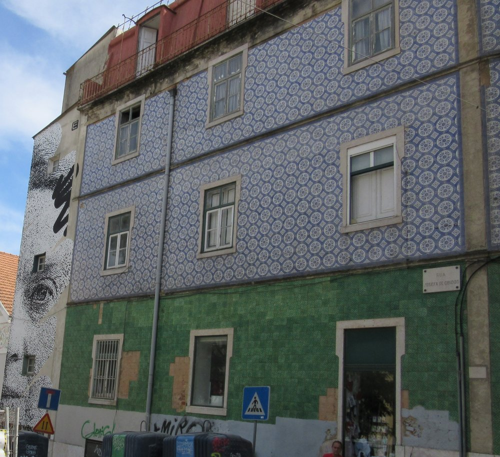 Lisbon colours paint and tiles