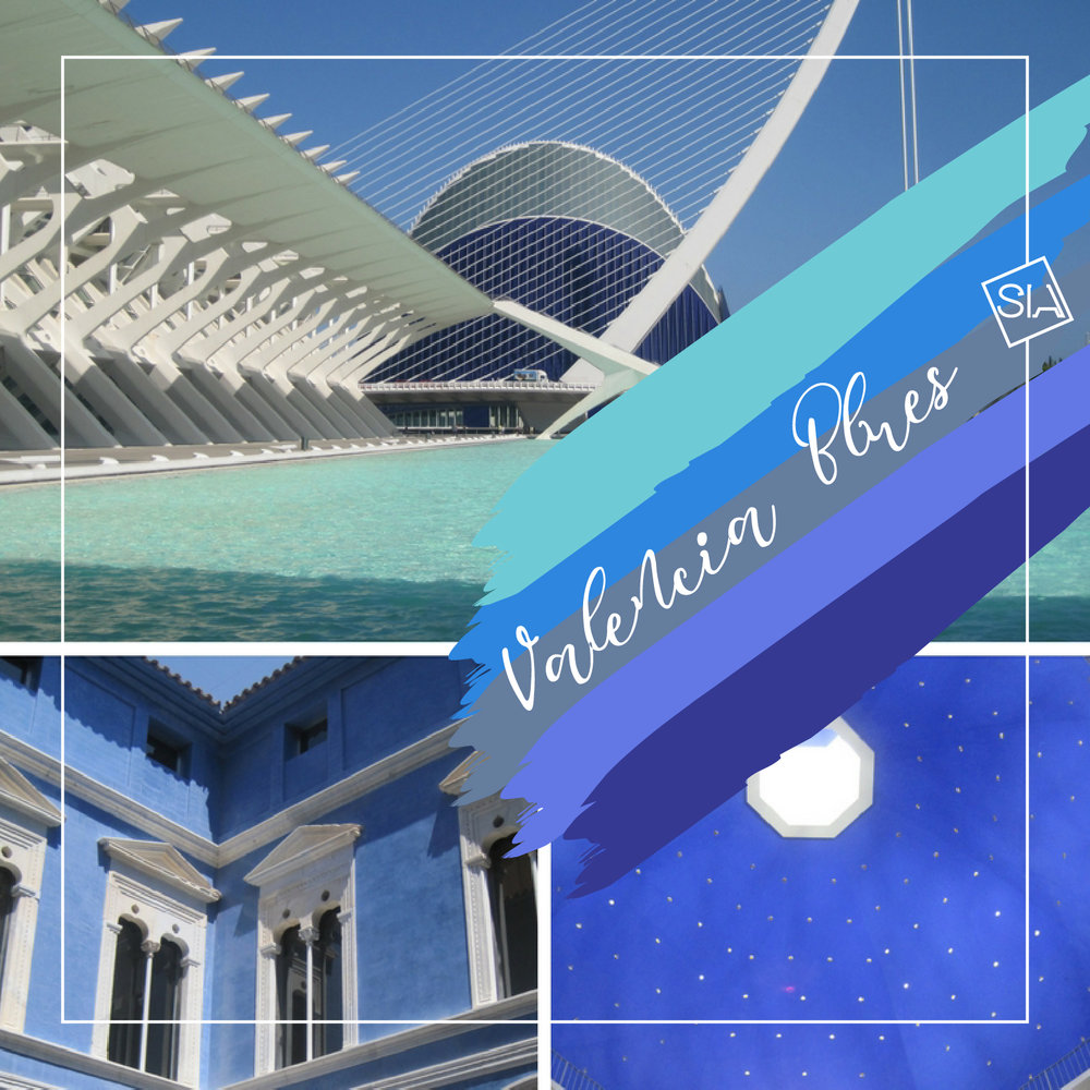 Valencia blues moodboard | South Island Art