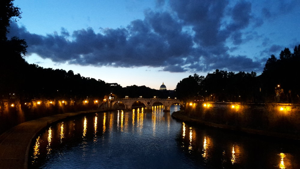 Inky blues over the River Tiber