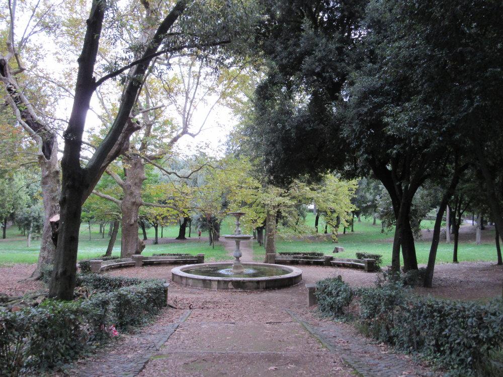 Deep greens of Villa Borghese