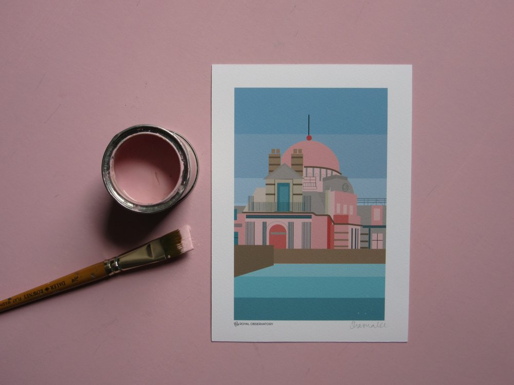 Royal Observatory print | Topology Interiors - Included in their roundup of prints inspired by the London marathon