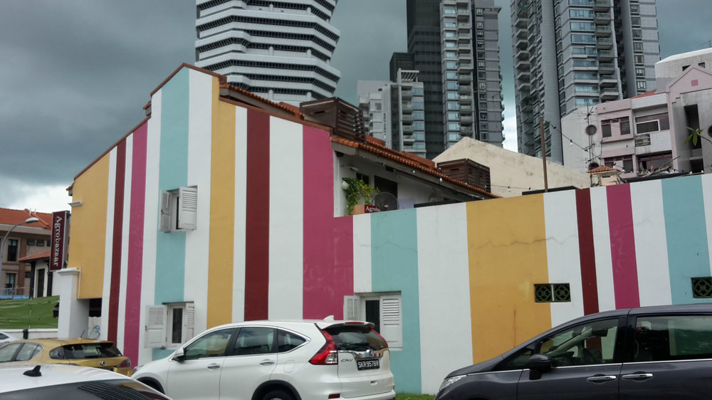 Striped buildings, Singapore