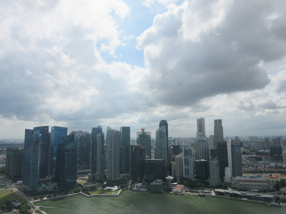 Singapore skyline seen from Marina Bay Sands