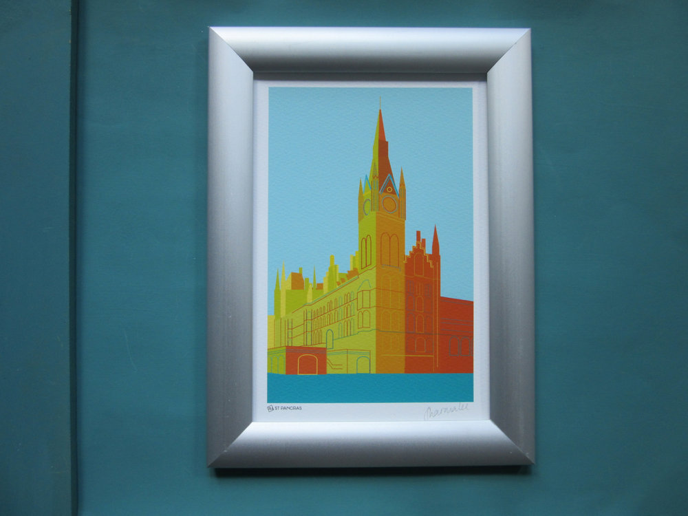 Customised St Pancras print
