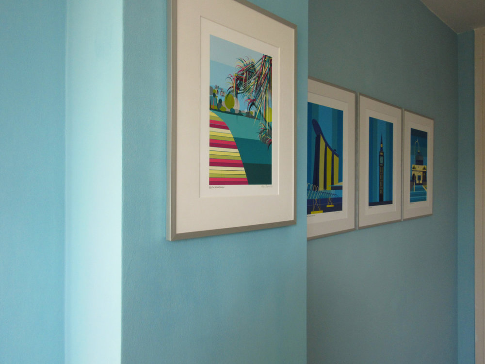 Gallery wall of art prints