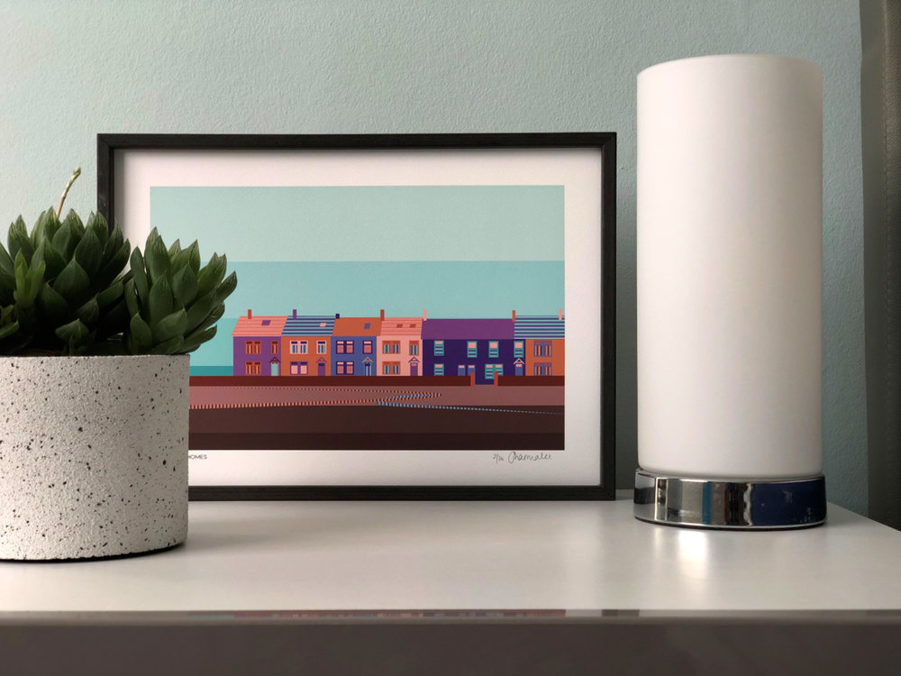 Seaside Homes Print  from £14.00