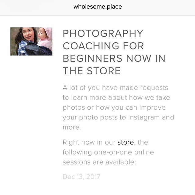 It's finally available in the store. 🎉📷 There are only a few spots. #photographycoaching #oneonone