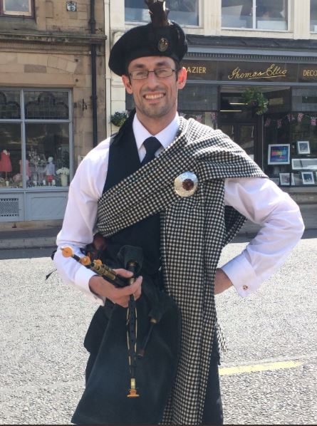 Andrew Lawrenson Northumbrian Piper and QEHS teacher.JPG