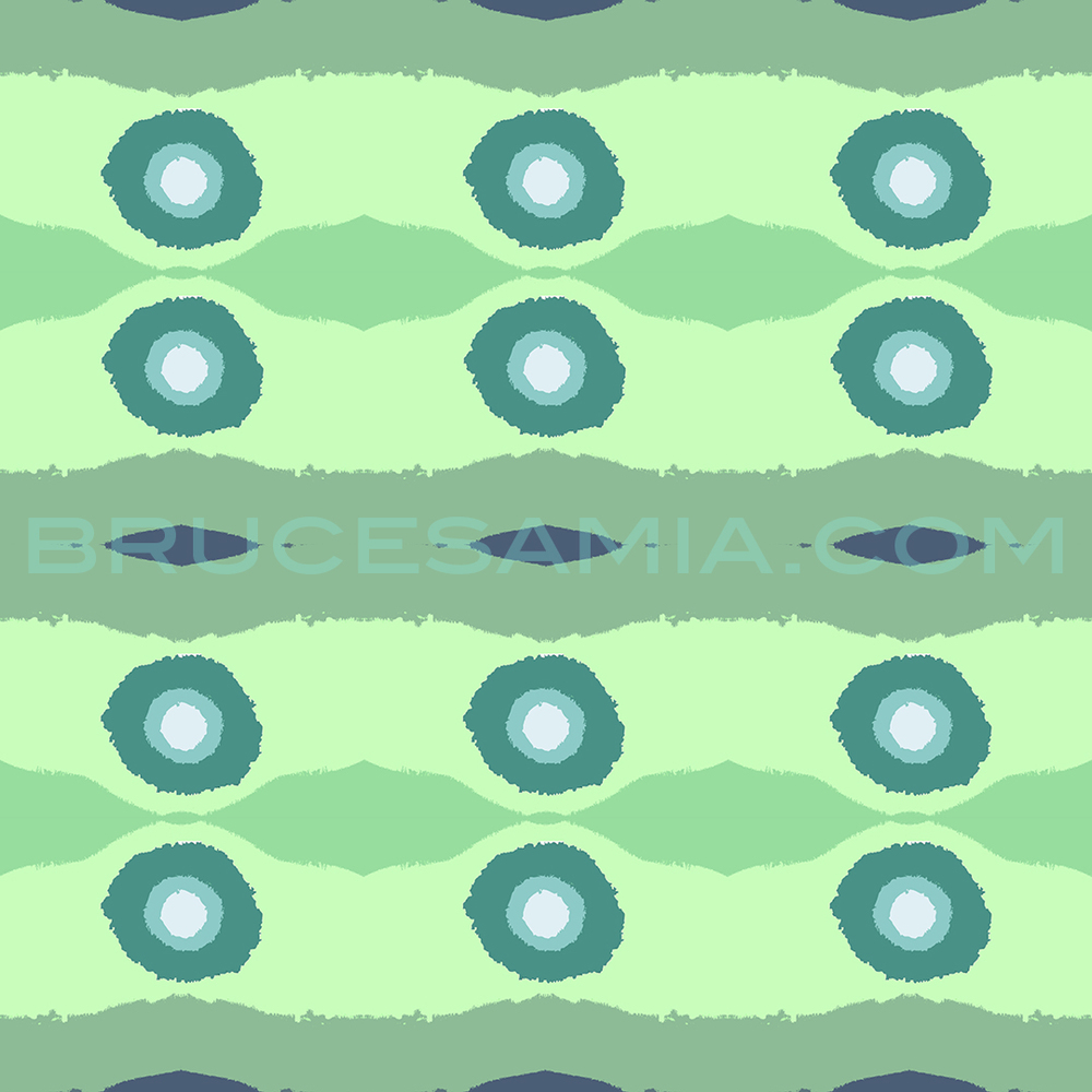 1wave Blu Green Circles 38x38