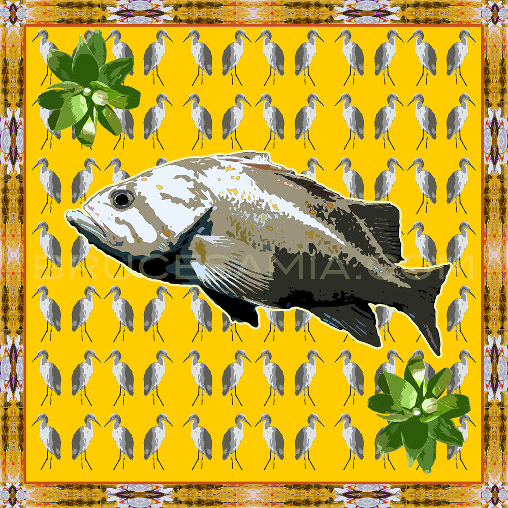 FISH-BIRD-YELLOW  TILE