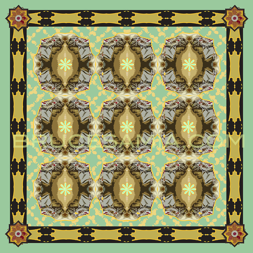 ARABESQUE-PATTERN-TEAL  TILE