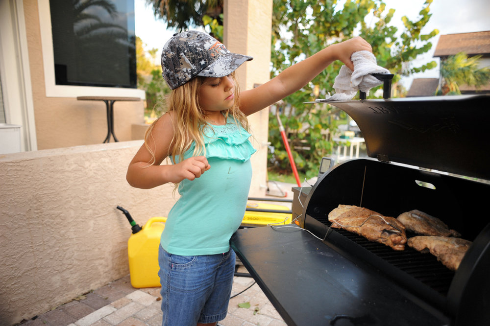 """I never would let my kids around my old smoker. Now the kids are always excited to lend dad a hand. """
