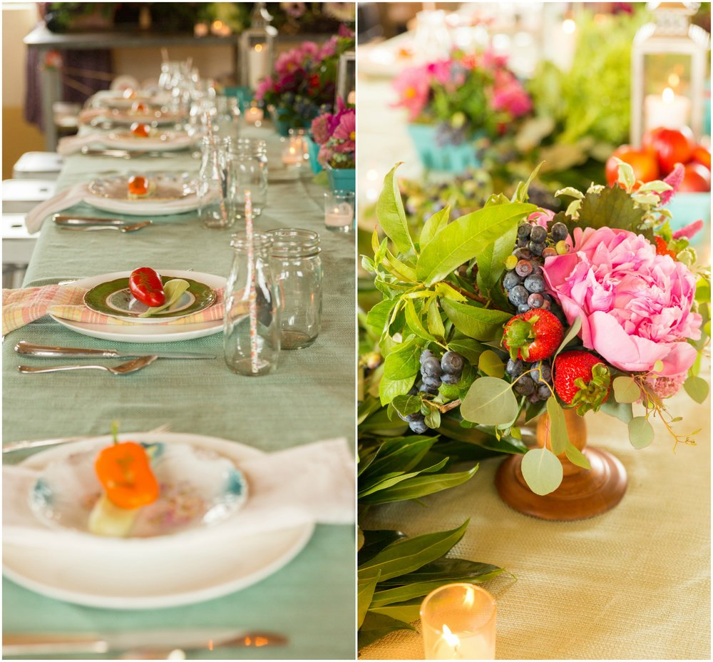 Farm to Table tablescape at A Milkhouse Party