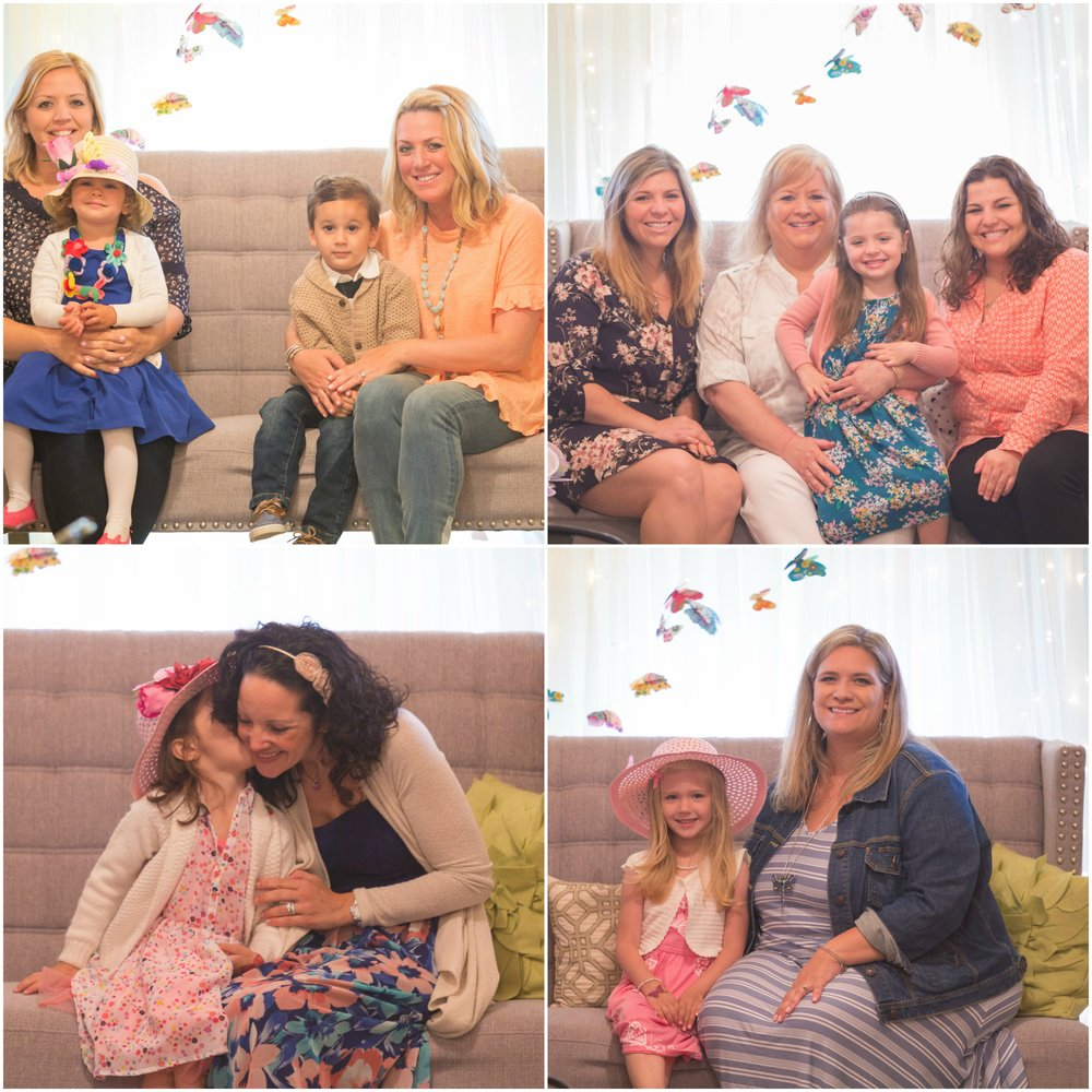 Professional Portraits at Mommy & Me butterfly tea party