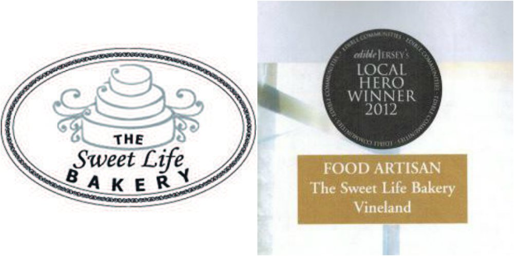 Sweet Life Bakery logo and award
