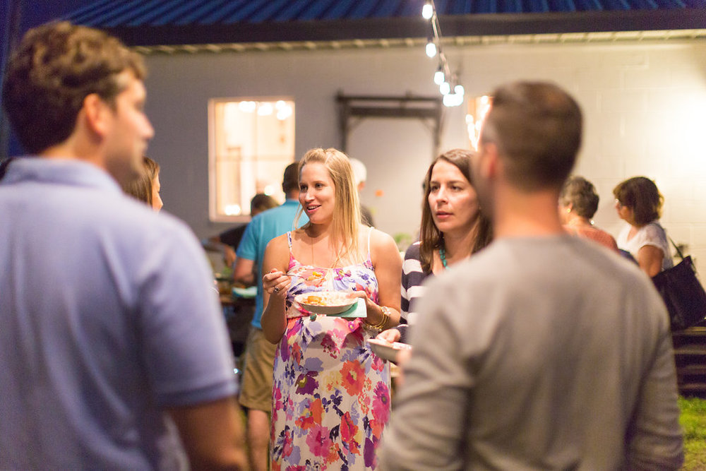 lounging guests at Farm to Table dinner