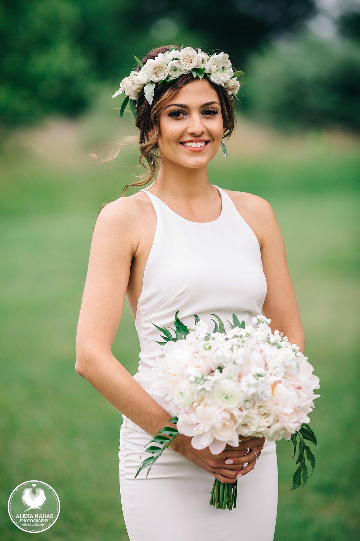 Renee formal wedding portrait