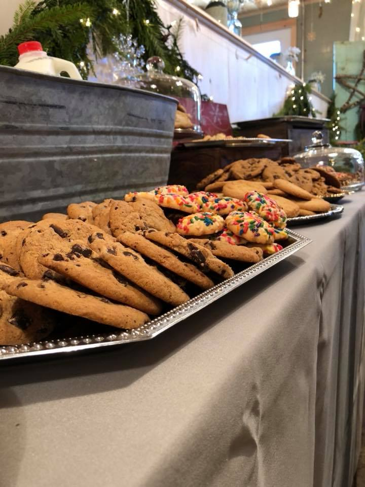 cookie display on silver trays