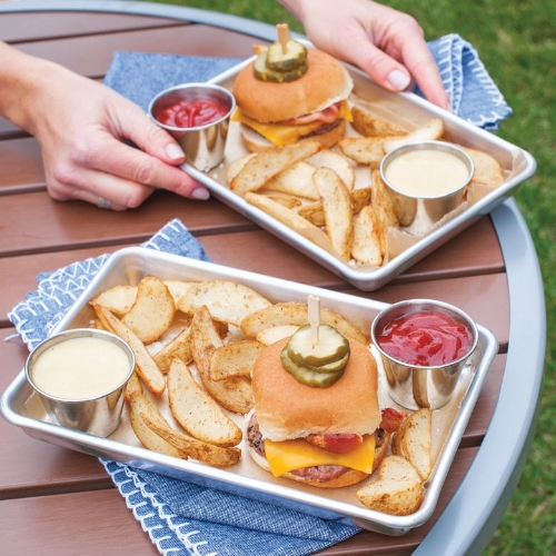 Single-serve burger trays!