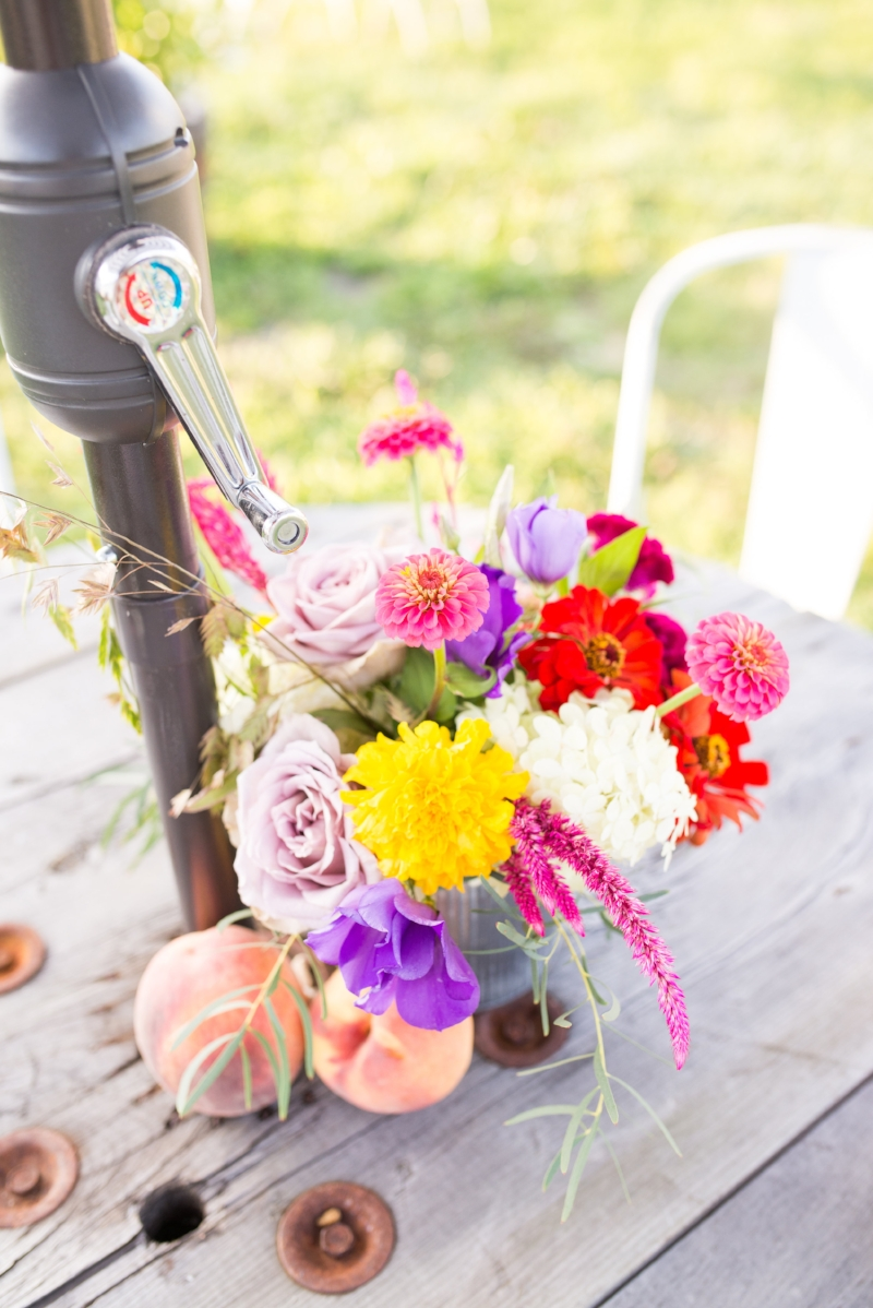 farm to table - summer date - table flowers