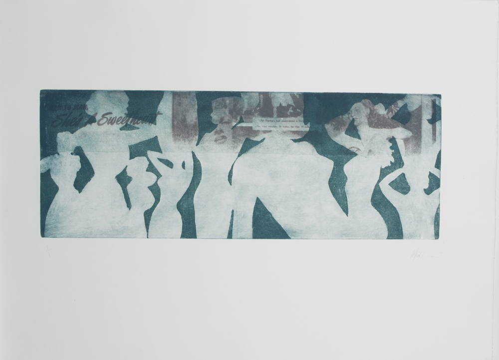 "30"" x 22"" Intaglio with Vintage Magazine Chine Cole 2010"