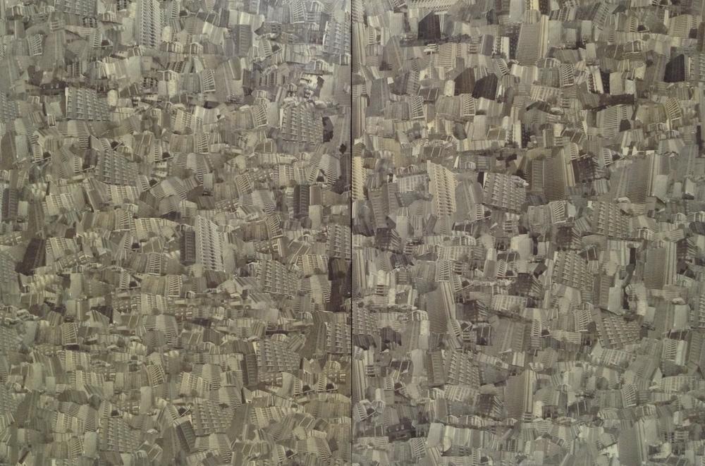 Black & White Condoscape (diptych)