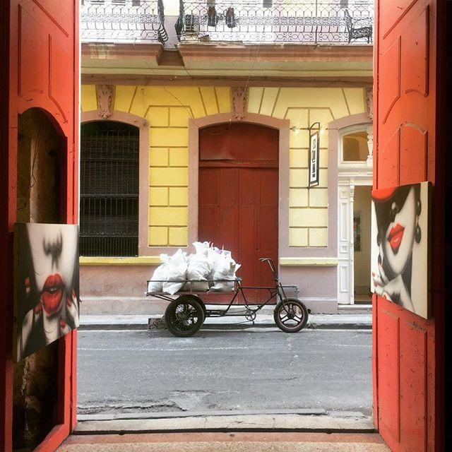 Missing the colour #havana #cuba #goingnowhere #city #red #art #travel #wander #explore