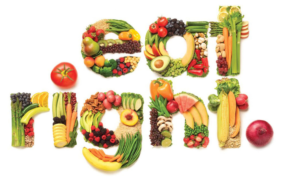 You should consume a colorful diet full of raw fruits and vegetables and drink 8-10 glasses of water a day!