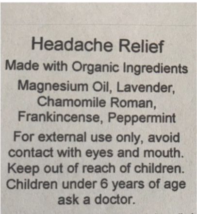 One of our most popular rollers!! Works wonders on headache and migraine pain!