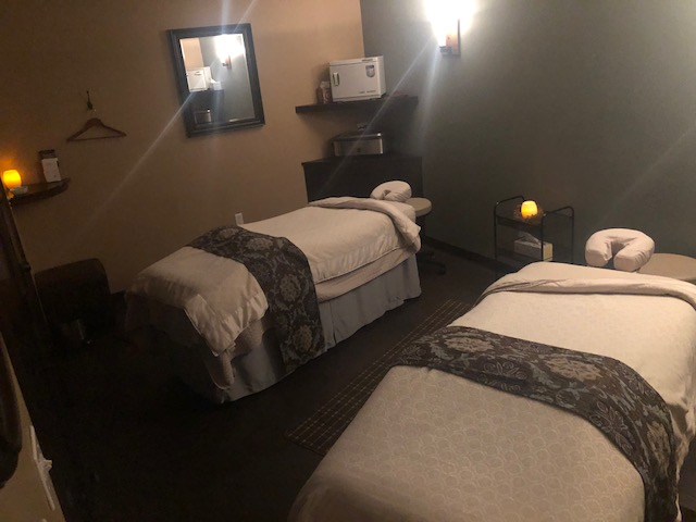 One of the couples massage rooms at Massage Heights
