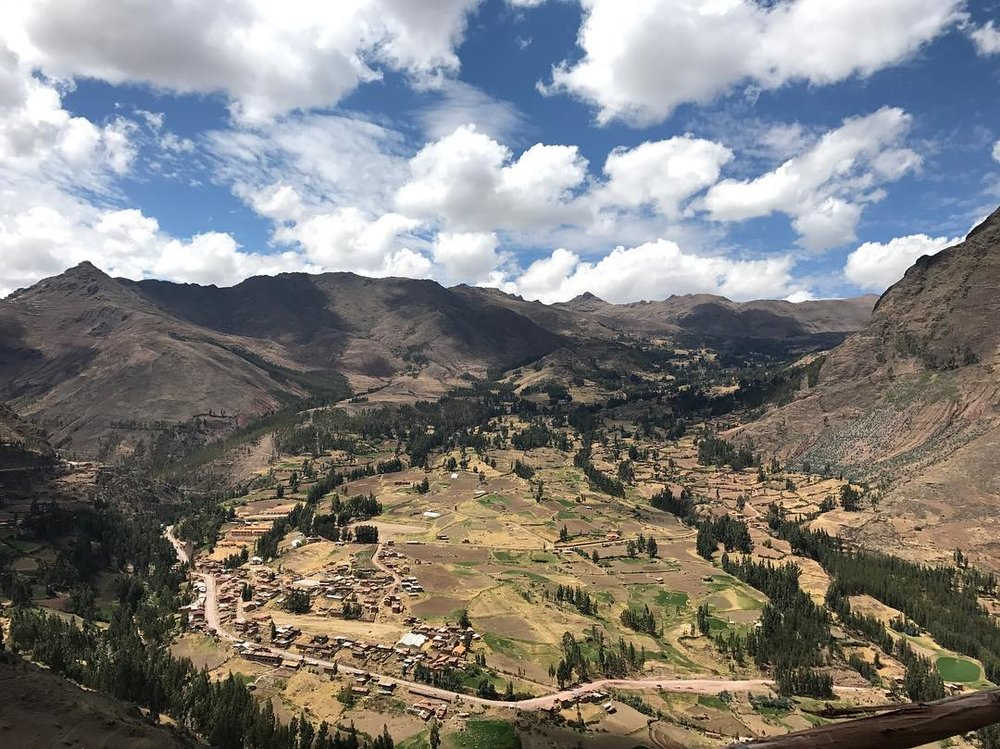 Looking out from Apu (sacred mountain spirit) Huanacari