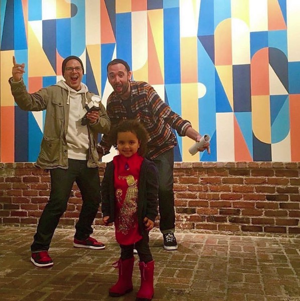 Mike, Luna and Scott at Subliminal Projects spreading the love!