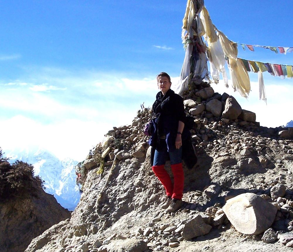 Drdak at the Nya La pass, Upper Mustang, 4010 meters, 2006.