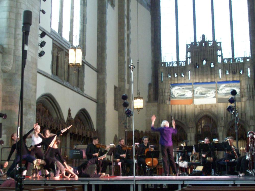 "Midwest premiere of ""Lungta"" at Rockefeller Chapel, University of Chicago, 2012."