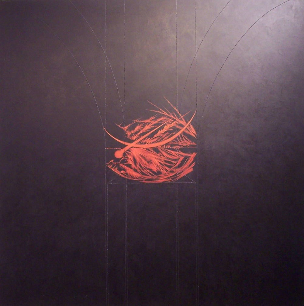03 Akedah Triptych-Ishmael, 2004, 48 x 48 x 2 in., acrylic and mineral particles on wood panel..JPG
