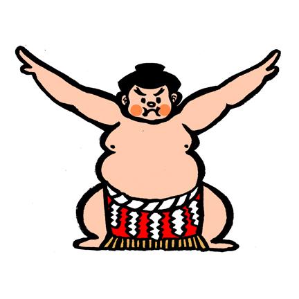 *Sumo painting by Taisan Tanaka,    shogakboz.jp