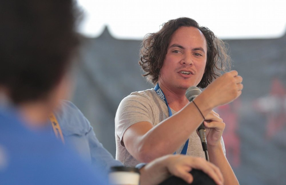 Me talking about Shakespeare on the Range during LA Film Prize