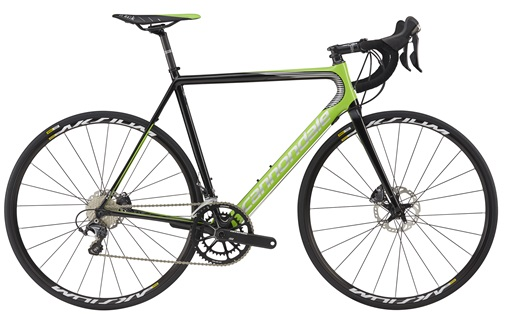2017 Cannondale SuperSix EVO HiMod Disc Ultegra, was $4199, NOW $2985! High end, super light weight carbon road bike with hydraulic disc brakes. This bike is comfortable for all day riding, but will fly up hills and scream around corners. Perfect upgrade from an older road bike, at a huge discount!