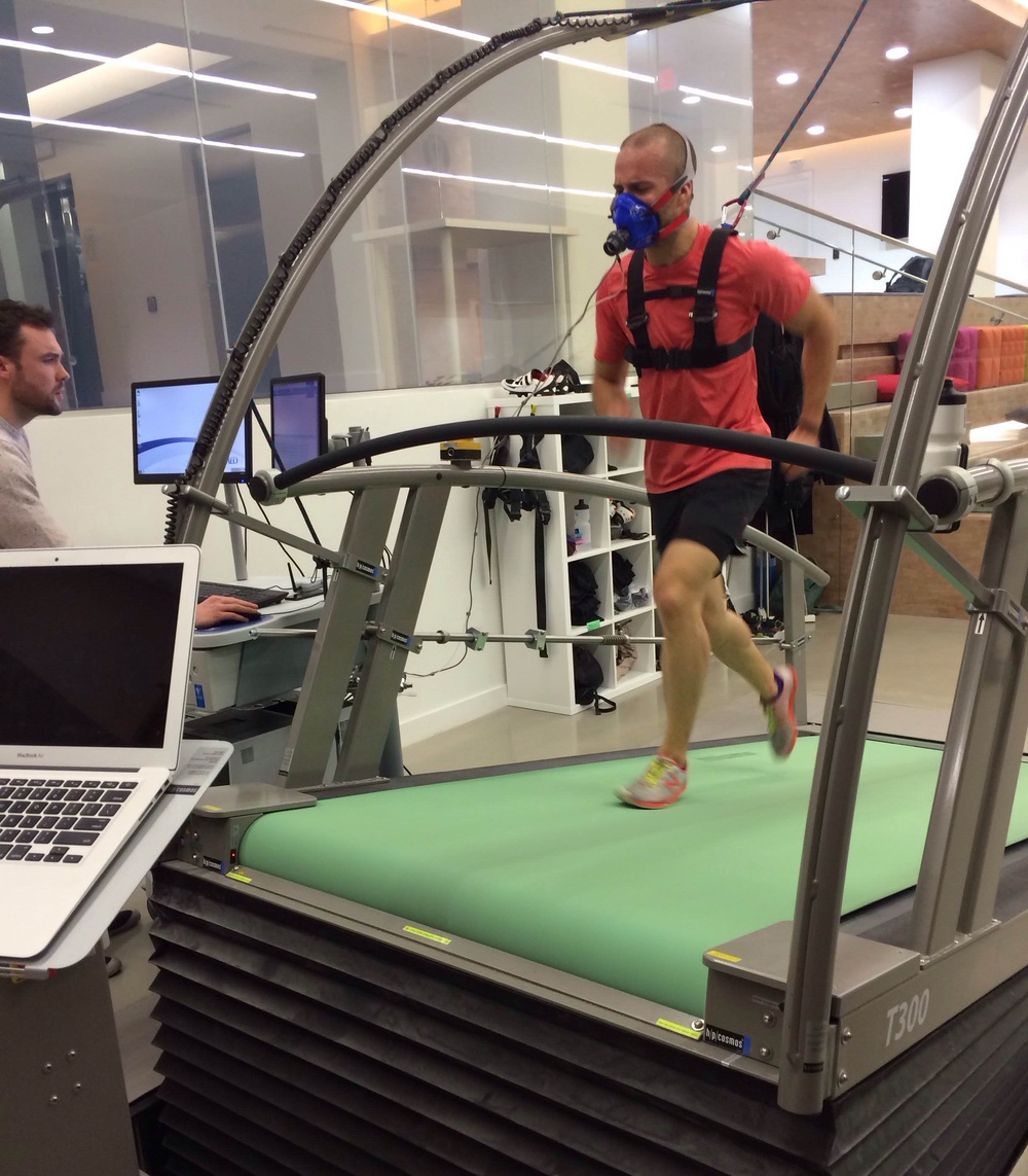 VO2 Max test at lululemon's 'Whitespace Workshop' (their R&D facility)