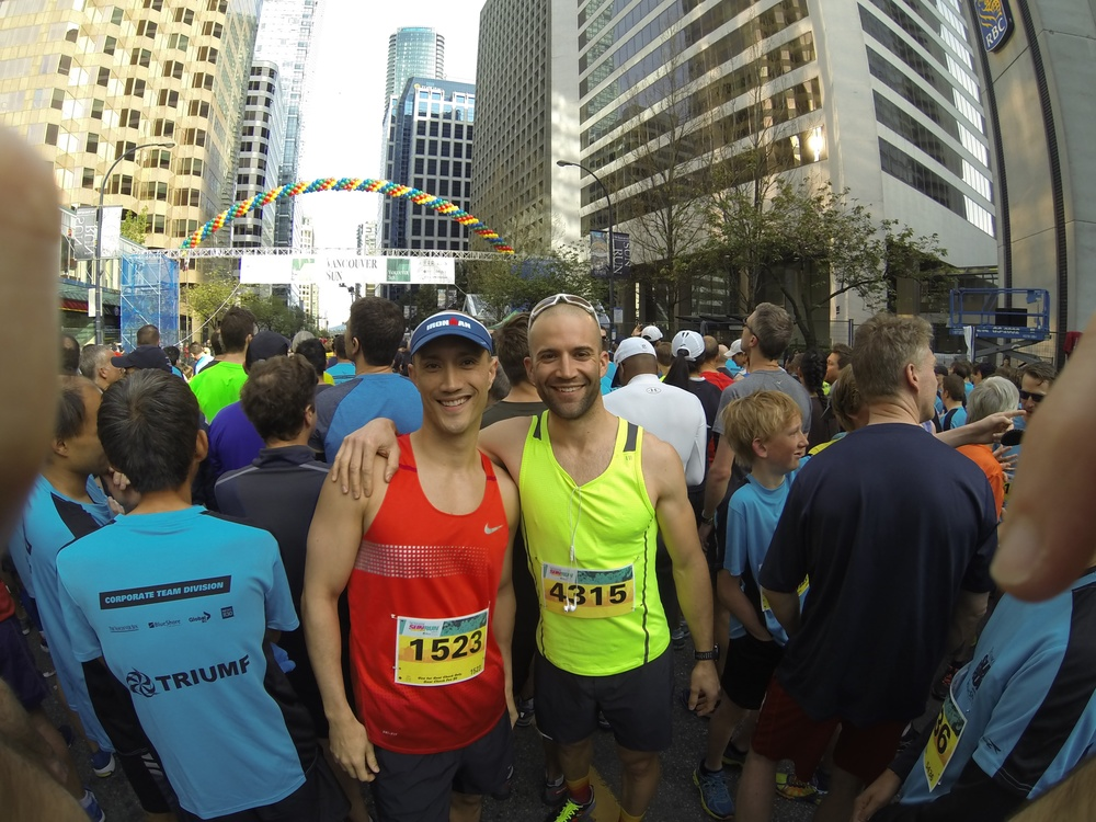 With running buddy Chad Clark