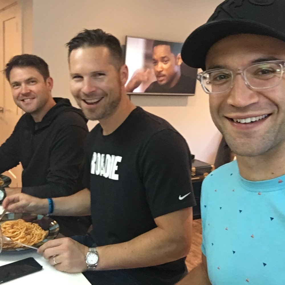 Just three guys, a pasta dinner and Will Smith...
