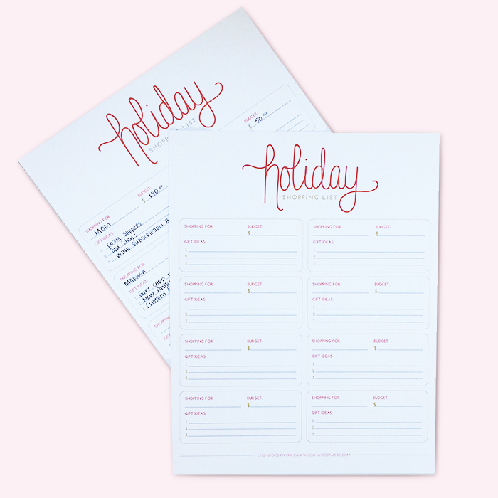 Leighwood Paperie >> Shopping Small for the Holidays: Why it's OK to start shopping early + a bonus holiday shopping list