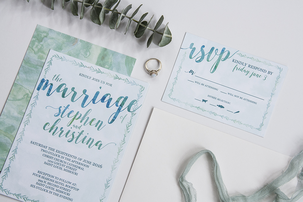 Custom Designed Invitations and Wedding Stationery