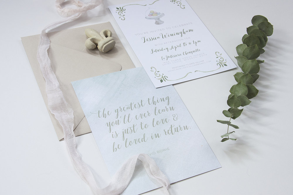 Custom wedding invitations and stationery from Leighwood Paperie | St. Louis, Missouri