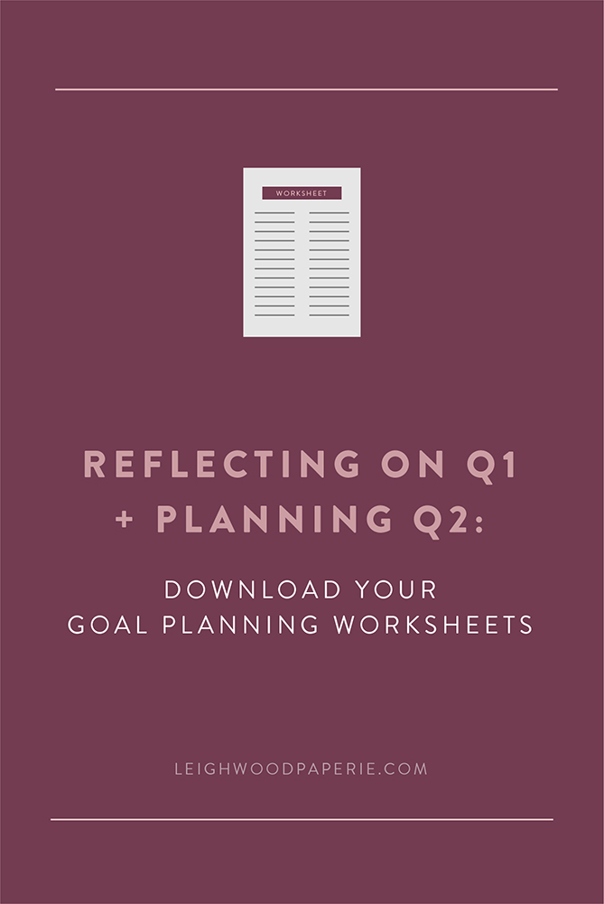 Leighwood Paperie >> Goal Planning Worksheets   Small Business Branding