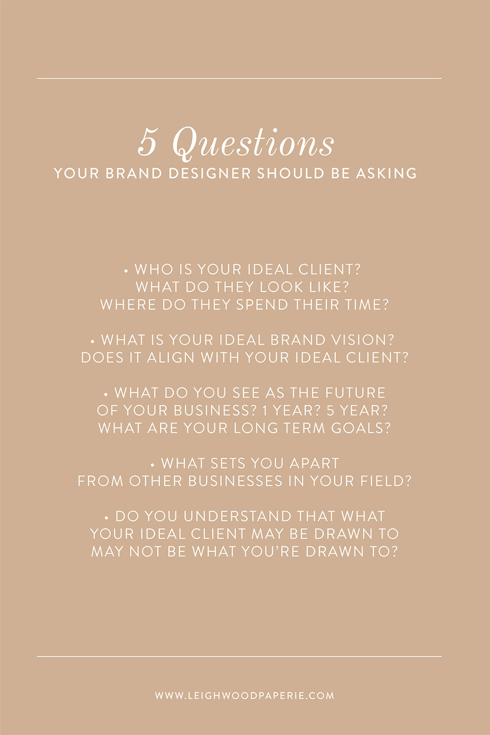 Leighwood Paperie >> The Branding Process: 5 Questions Your Designer Should be Asking