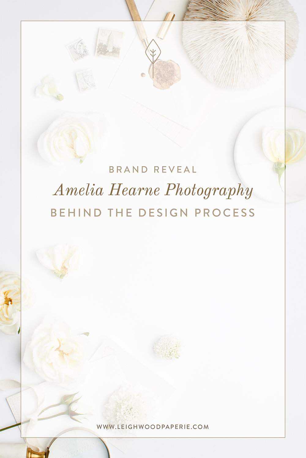 Brand Reveal: Amelia Hearne Photography | Designed by Leighwood Paperie