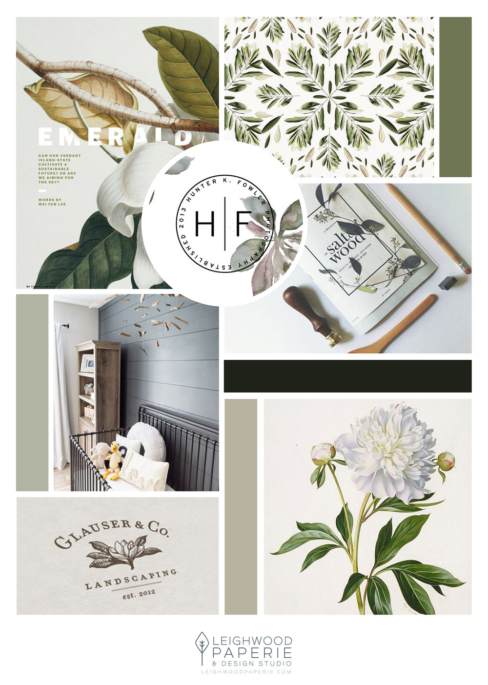 Brand Reveal: Amelia Hearne Photography | Mood Board Designed by Leighwood Paperie