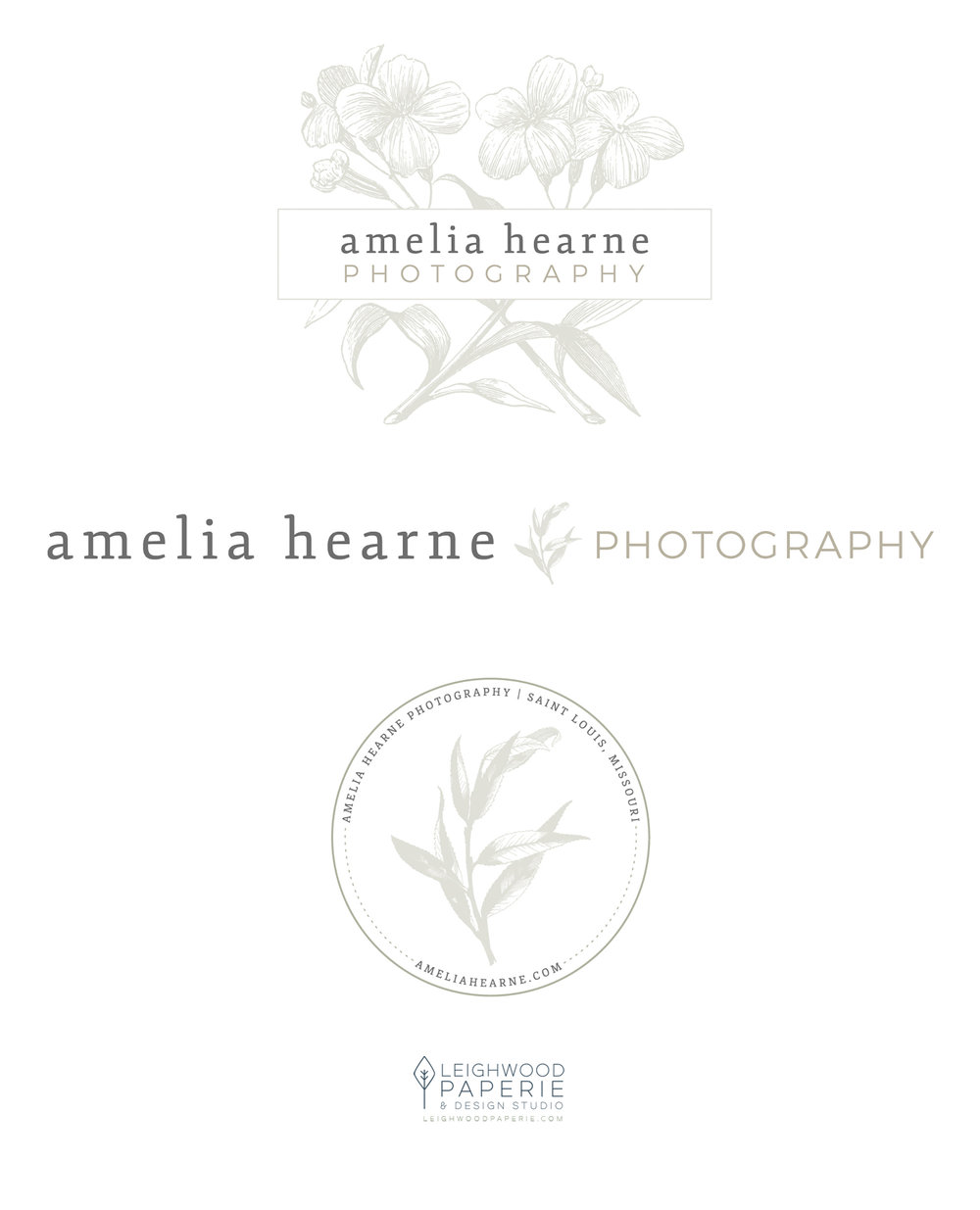 Brand Reveal: Amelia Hearne Photography | Logos Designed by Leighwood Paperie