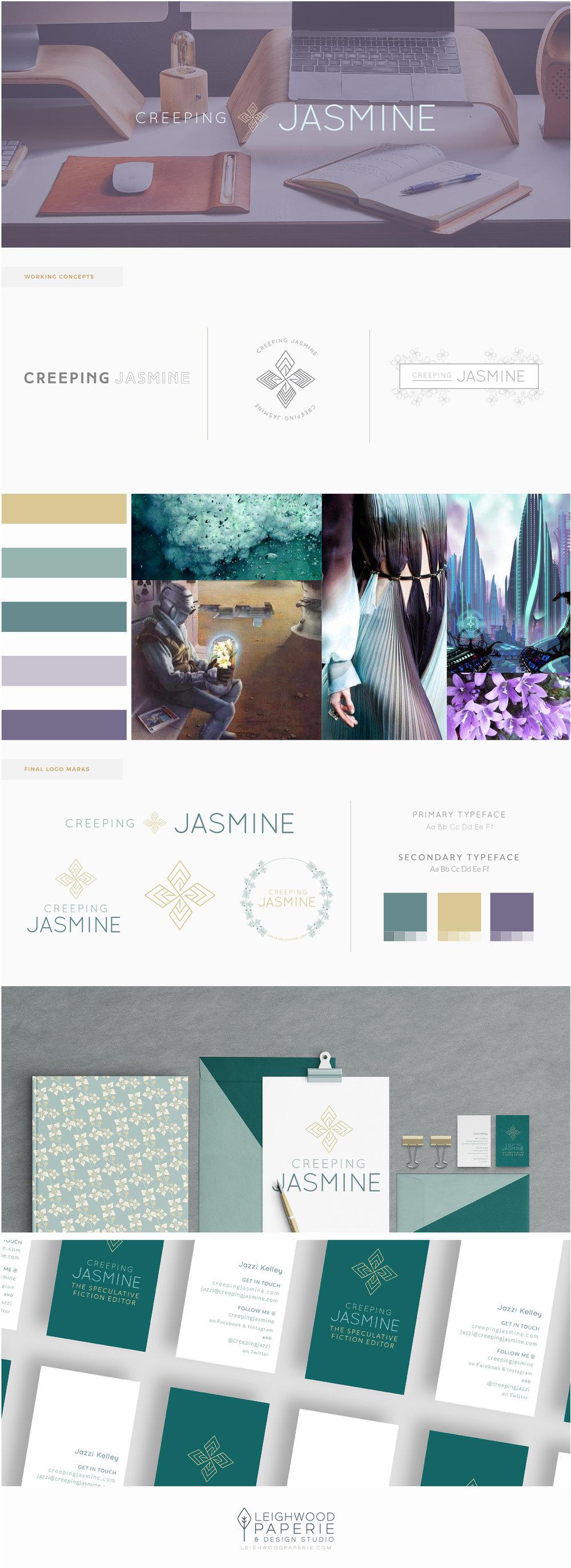 LeighwoodPaperie   Branding Portfolio   Creeping Jasmine